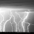 Electric Skies in Black and White Print by James BO  Insogna