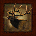 Elk Lodge Print by JQ Licensing