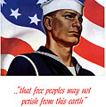 Enlist In Your Navy Today Poster by War Is Hell Store