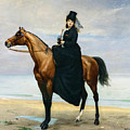 Equestrian Portrait of Mademoiselle Croizette Poster by Charles Emile Auguste Carolus Duran