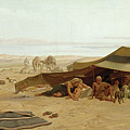 Evening Prayer in the West Print by Frederick Goodall