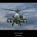 Face of Death Ah-64 Apache Helicopter Print by Randy Steele