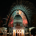Fair St Louis Fireworks Print by William Shermer