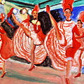 Famous French Cancan Print by Stanley Morganstein
