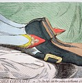 Fashionable Contrasts Poster by James Gillray