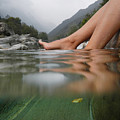 Feet on the water Print by Mats Silvan