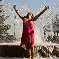 Femme Fountain Poster by Al Powell Photography USA
