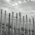 Fence At Jones Beach State Park. New York Poster by Gary Koutsoubis