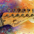 Fender Head Print by Andrew King