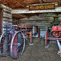 FIREFIGHTING ENGINE COMPANY NO. 1 - NEVADA CITY MONTANA GHOST TOWN Poster by Daniel Hagerman