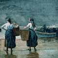 Fisher Girls by the Sea Print by Winslow Homer