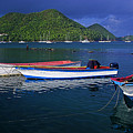 Fishing Boats at sunrise- St Lucia Print by Chester Williams