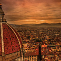 Florence Duomo At Sunset Poster by McDonald P. Mirabile