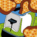 Flying Toast Print by Ron Magnes