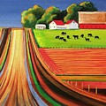 Folk Art Farm Poster by Toni Grote