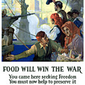 Food Will Win The War Poster by War Is Hell Store