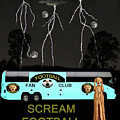 Football Tour Scream Poster by Eric Kempson