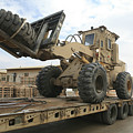 Forklift Is Unloaded Off Of A Logistics Poster by Stocktrek Images