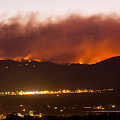Fourmile Canyon Fire Burning Above North Boulder Print by James BO  Insogna