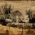 Fragmented Barn  Print by Julie Hamilton