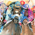 Frantic Finish Print by Arline Wagner
