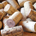French Wine Corks Print by Nomad Art And  Design