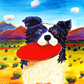 Frisbee Dog Print by Harriet Peck Taylor