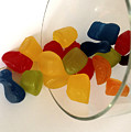 Fruit Gummi Candy Print by Cheryl Young