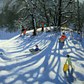 Fun in the Snow Poster by Andrew Macara