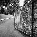 gate and driveway of graceland elvis presleys mansion home in memphis tennessee usa Poster by Joe Fox