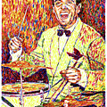 Gene Krupa the Drummer Print by David Lloyd Glover