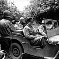 General Eisenhower In A Jeep Poster by War Is Hell Store
