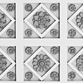 Getty Villa Coffered Peristyle Ceiling Print by Teresa Mucha