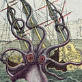 Giant Octopus Poster by Denys Montfort