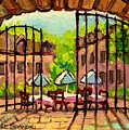 GIBBYS RESTAURANT IN OLD MONTREAL Print by CAROLE SPANDAU