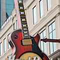 Gibson Les Paul of the Hard Rock Cafe Poster by DigiArt Diaries by Vicky B Fuller