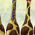 Giraffe Neckties Print by Christy Beckwith