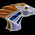 Glowing Bronco Print by Shane Bechler