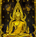 Golden buddha  Print by Anek Suwannaphoom
