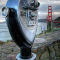 Golden Gate Binoculars Poster by Peter Tellone