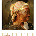 grandma - the people of Haiti series poster Poster by Bob Salo