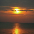 Great Lakes Sunset and Beach Print by Brent Parks