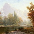 Half Dome Yosemite Print by Albert Bierstadt