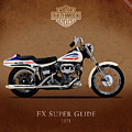Harley-Davidson Model FX Super Glide 1971 Poster by Mark Rogan