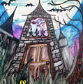 Haunted House Poster by Jenni Walford