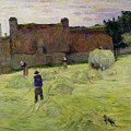 Haymaking in Brittany Poster by Paul Gauguin