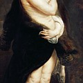 Helena Fourment in a Fur Wrap Print by Rubens