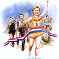 Hillary and the race Print by Ken Meyer jr