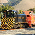 Historic Niles Trains in California . Old Southern Pacific Locomotive and Sante Fe Caboose . 7D10821 Poster by Wingsdomain Art and Photography