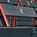 Historical Wood Seating at Boston Fenway Park Poster by Juergen Roth